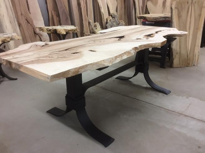 Steel Dining Table Base Ohiowoodlands Metal Legs Powder Coated For Sale
