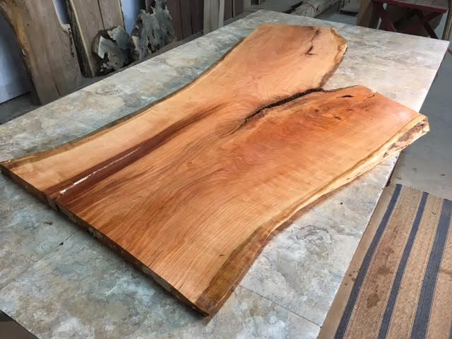 Live edge cherry slabs curly live edge cherry slabs live for Live edge slab lumber