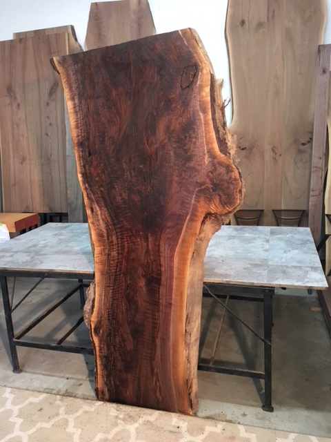 Kiln Dried Live Edge Curly Walnut For Sale Live Edge Dining Table - Burled walnut dining table