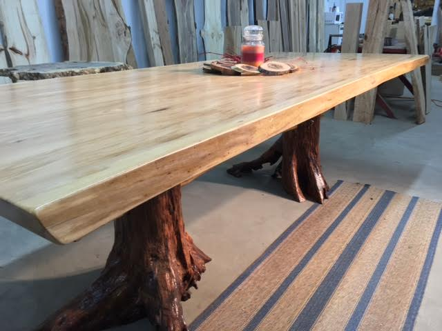Live Edge Matched Elm Dining Table Beautiful Salvaged