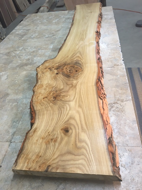 Reclaimed Lumber Live Edge Hickory Slab Perfect For A Long Bar