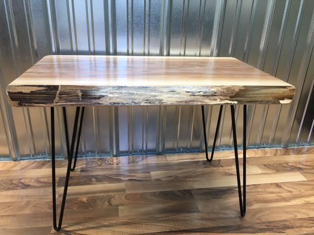 live edge walnut coffee table. beautiful salvaged live edge coffee