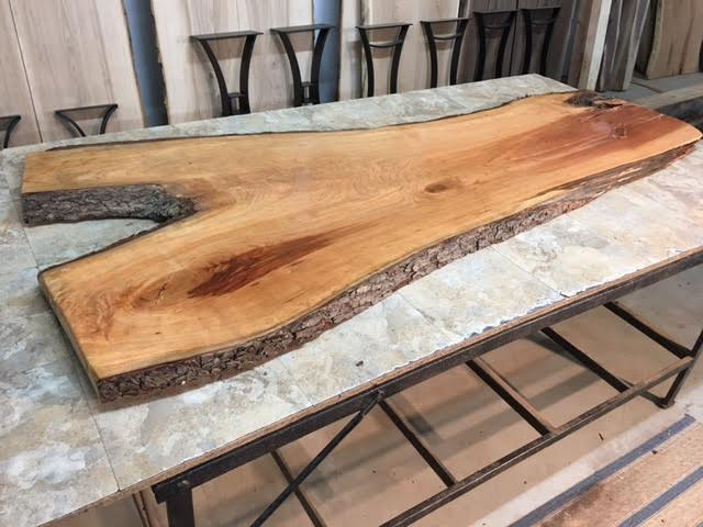 Live Edge Cherry Desk Slabs Curly Live Edge Cherry Slabs