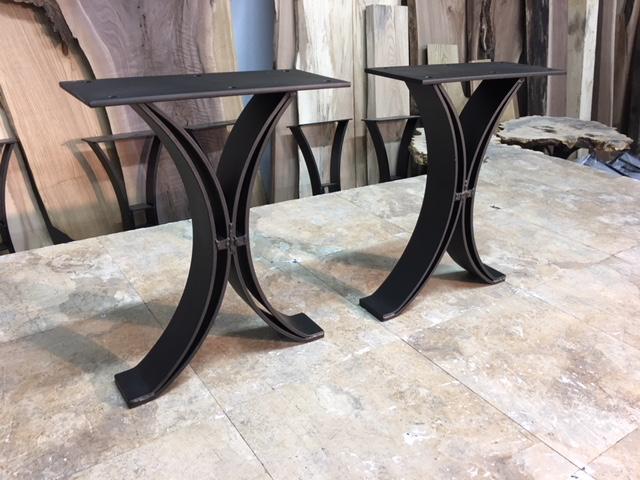 ohiowoodlands bench base solid steel bench legs bench table base bench table legs metal. Black Bedroom Furniture Sets. Home Design Ideas
