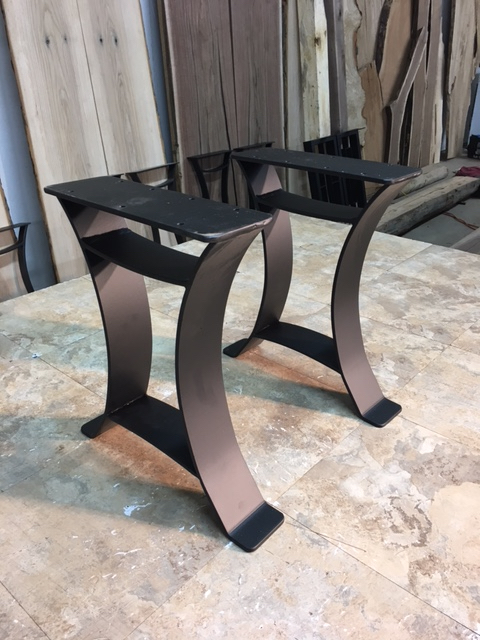 Ohiowoodlands Bench Base Solid Steel Bench Legs Bench