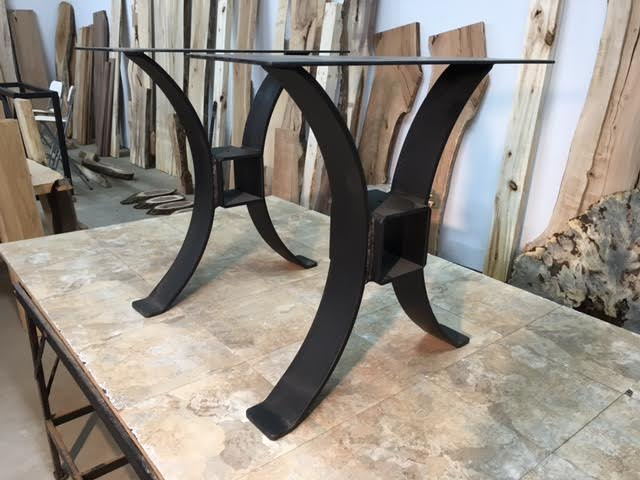 Steel Dining Table Base Ohiowoodlands Metal Table Legs  : SolidSteelTimberFrameDiningTableBase4 from www.ohiowoodlands.com size 640 x 480 jpeg 40kB