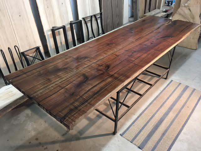 Live edge walnut slab for 3 inch thick wood slab