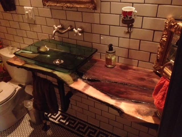 Bathroom vanity top with sink