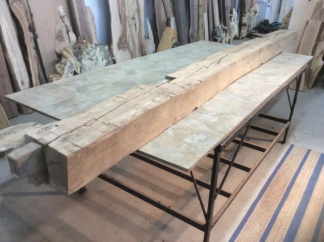Beech mantel beam lumber reclaimed for