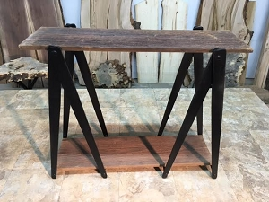 29.5 INCH TALL CUSTOM SAWHORSE HAND-MADE SOFA TABLE LEG SET! Sofa, Accent, Table Legs! Hand Forged Steel! 29.5 Inch Tall X 13.25 Inch Wide! E-163