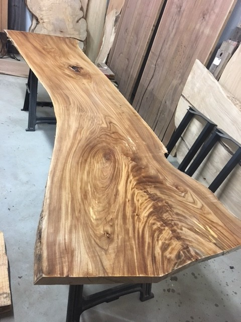 Live Edge Elm Bar Slab Figured Live Edge Elm Slabs Live