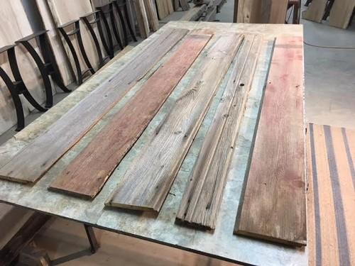 Reclaimed salvaged lumber pine barn siding