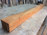 "71.75"" X 6"" TO 5  3/4"" X 4.5"" TO 4.75"" RUSTIC CHERRY MANTEL! Figured Cherry! Cherry Mantle! A-147"