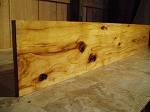 "59"" X 10"" X 1"" KNOTTY HICKORY LUMBER! FIGURED HICKORY! FIGURED BEAUTIFUL LUMBER! A-96"