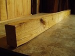 "98"" X 5.75""  X 3.75"" HD FIGURED OAK MANTEL LUMBER! FIGURED OAK! BEAUTIFUL PRIMITIVE LUMBER! C-110"