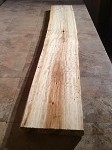 "66"" LONG X 11"" TO 10.5"" WIDE X 2 INCH THICK SPALTED CURLY FIGURED ASPEN LUMBER! FREE FORM ASPEN LUMBER! 1 SLAB! D-125"