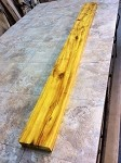"63.5"" X 5.75"" TO 5  5/8"" X 1  3/4"" THICK OSAGE ORANGE LUMBER! FIGURED OSAGE ORANGE! OSAGE LUMBER! D-131"
