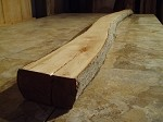 "74"" X 5"" X 2  1/4 INCH THICK SERVICEBERRY"" THICK FREE FORM SERVICEBERRY LUMBER! FREE FORM FIGURED LUMBER! THICK RARE WOOD! 1 NICE PRIMITIVE BOARD! D-96"