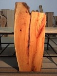 "53.25"" X 24"" TO 10"" X 1  7/8 INCH THICK! WIDE FIGURED CHERRY LUMBER! FIGURED CHERRY SLAB! 1 THICK LIVE EDGE SLAB! E-127"