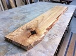 "61.5"" X 11.25"" TO 10"" X 1.5"" FIGURED ASH LUMBER! ASH SLAB! FIGURED BEAUTIFUL LUMBER! E-131"
