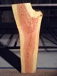 "32.25"" X 11.25"" TO 7.5"" X 2  3/8"" ""THICK FIGURED HONEY LOCUST LUMBER"" LIVE EDGE FREE FORM HONEY LOCUST LUMBER! 1 RARE SLAB! H-126"