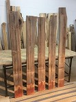 "73"" TO 69.5"" X 7.25"" X  5/8"" 5 PACK RECLAIMED LUMBER"" Figured Lumber! 5 Reclaimed Boards! I-146"
