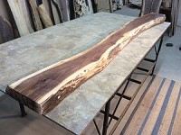 "101.5"" X 11.5"" TO 9"" X 2   7/8 INCH THICK ""WALNUT"" Mantel Slab! Live Edge Walnut Lumber! Thick Wood! Live Edge Board! K-133"