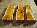 "21"" X 7"" X 2  5/8"" ""BEAUTIFUL GRAIIN 3 PACK"" MULBERRY LUMBER! PRIMITIVE LIVE EDGE WOOD! RARE BOARDS! SLAB! K-94"