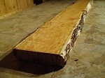 "64"" X 10"" X 2   3/8 INCH THICK CURLY PRIMITIVE CHERRY! THICK CHERRY FREE FORM LUMBER! SALVAGED LIVE EDGE WOOD! 1 SLAB! L-95"