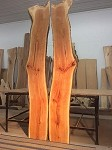 "97 TO 99"" LONG X 16"" to 12"" WIDE (ONE SLAB HAS BEEN SOLD) X 1.5"" ""FIGURED CHERRY"" 1 Cherry Slab! Wood! Live Edge Board! D-150"
