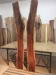 "99"" X 14.5"" TO 10"" WIDE (EACH) X 2  1/8"" (2) ""FIGURED WALNUT"" Matched Walnut Lumber! Wood! Live Edge Boards! R-147"