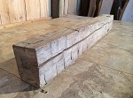 "44.5"" X 6.5"" X 4.5"" LATE 1800s RECLAIMED HAND HEWN MANTEL BEAM LUMBER! FIGURED SOLID OAK BEAM! HEAVY DUTY FIREPLACE BEAM MANTEL LUMBER! M-114"