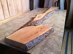 "94.5"" X 23.5"" TO 10.5"" X 3"" SUPER FIGURED PRIMITIVE CHERRY! Thick Cherry Lumber! Salvaged Live Edge Wood! 1 Slab! M-116"