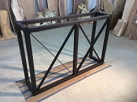 40 INCH TALL X 60 INCH LONG STEEL BAR BASE! Flat Black Metal Bar Base! Beautiful Bar Base! 40 Inches Tall X 60 Inch Length! N-138