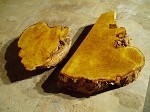 """2 PACK FREE FORM OSAGE ORANGE BURL"" FIGURED BURLY OSAGE LUMBER! LIVE EDGE WOOD! 2 SUPER RARE BURLS! N-79"