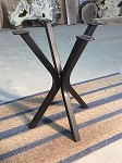22 INCH TALL STEEL END TABLE BASE! Flat Black Metal Table Base! Accent Table Legs! 15.5 Inch Wide X 16 Inch Wide! G-147