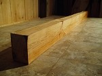 "94"" X 5"" X 3  5/8 INCH THICK"" PRIMITIVE CHERRY MANTEL LUMBER! THICK SOLID FIGURED HARDWOOD! 1 NICE HEAVY DUTY MANTEL! P-93"