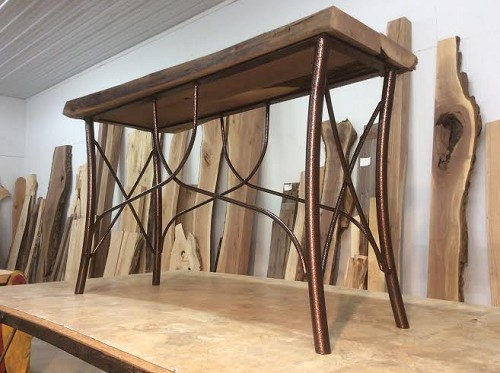 Ohiowoodlands console table base steel sofa table legs for Coffee tables 16 inches high
