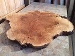 "50.5"" X 53.5"" X 2  1/16"" ""MASSIVE WHITE OAK CLOVER BURL"" FIGURED BURLY OAK LUMBER! LIVE EDGE WOOD! 1 SUPER RARE LARGE MATCHED  BURL! Q-116"