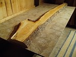 "102"" X 19"" X 2  1/2 INCH THICK FIGURED CHERRY LUMBER"" HEAVY DUTY FREE FORM CHERRY LUMBER! 1 THICK SLAB! Q-93"