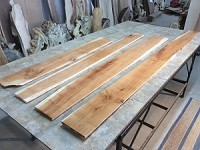 "90"" TO 50"" X 5.5"" TO 7.5"" X 5/8"" ""4 PACK FIGURED CHERRY LUMBER"" Figured Cherry Lumber! 4 Boards! R-141"