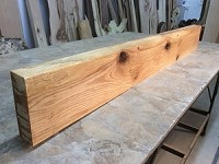 "64"" X 7  7/8"" TO 7.75"" X 2  3/8"" OAK MANTEL BEAM LUMBER! Figured Oak Mantel! Heavy Duty Fireplace Mantle Lumber! L-149"
