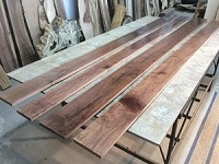 "110"" X 5"" TO 7"" X 3/4"" ""4 PACK WALNUT LUMBER"" Select and Better Lumber - Heartwood Walnut! 4 Boards! S-144"