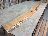 "99"" X 9"" TO 7"" X 1.75"" FIGURED CURVED CHERRY LUMBER"" Live Edge Cherry Lumber! 1 Thick Board! T-145"