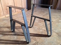 15.5 INCH TALL STEEL TABLE LEG SET! Bench Or Coffee Table Legs! Unfinished Steel! V-147