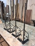 30.5 INCH TALL CUSTOM LEAF HAND-MADE HAIRPIN SOFA TABLE LEG SET! Sofa, Accent, Table Legs! Hand Forged Steel! 30.5 Inch Tall X 3/4 Inch Thick! W-162