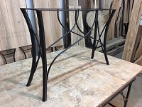 28 INCH TALL STEEL SOFA/ACCENT/CONSOLE TABLE BASE! Flat Black Metal Table Base! Console Table Base! 28 Inches Tall X 40 Inch Length! S-150