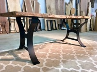 28 INCH TALL STEEL DINING TABLE BASE SET! Flat Black