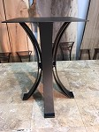 21.5 INCH TALL STEEL END TABLE HALF MOON BASE! Flat Black Metal Table Base! Accent Table Base! W-194