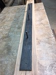 60 INCH LONG SOLID STEEL FLOATING MANTEL/SHELF BRACKET!